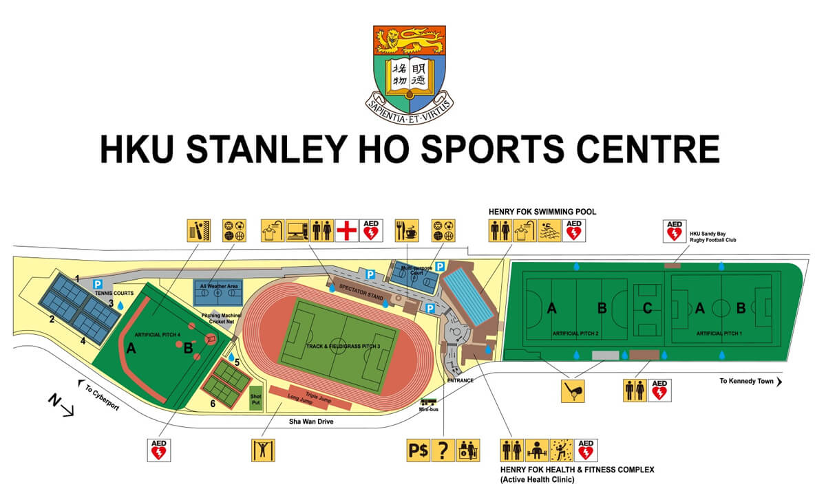 Map of Stanley Ho Sports Centre